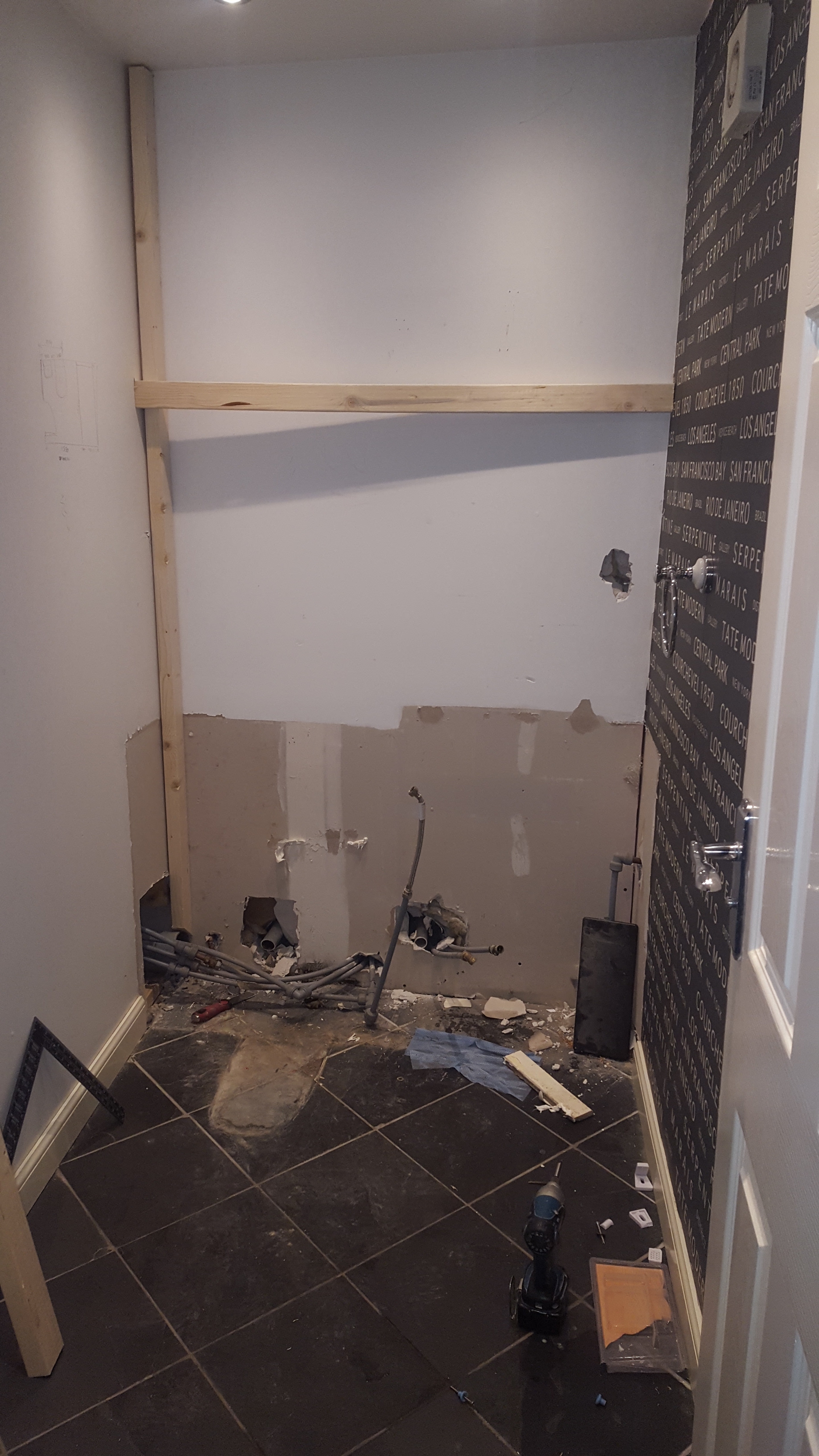 Bathroom during a refit